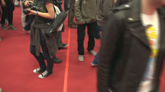 Bucharest May The 10th, East European Comic Con, Huge Crowd Of People High Angle - stock footage