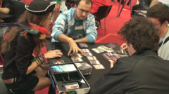 Bucharest May The 10th, East European Comic Con, Group Of People Playing - stock footage
