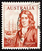 Postage stamp Australia 1971 William Dampier Stock Photos