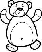 Stock Illustration of teddy bear cartoon for coloring book