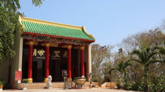 Buddhist temple on Pratumnak Hill in Pattaya, Thailand Stock Footage