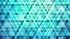 HD 4K (4096 x2304) Abstract animation made of vivid turquoise triangle pattern. Stock Footage