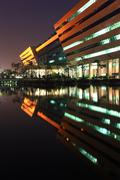 Stock Photo of Bangkok DEC 20 : part of Government Complex Building shines at D