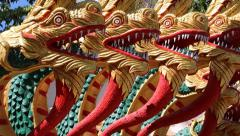 Dragons on Pratumnak Hill near Big Golden Buddha statue in Pattaya, Thailand Stock Footage