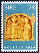 Postage stamp Ireland 1994 Annunciation, Detail, Christmas Stock Photos