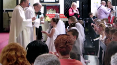 Communion Mass - stock footage