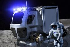 Lunar rover - stock illustration