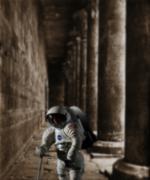 Stock Illustration of Martian ruins