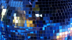 Blue rotating glitterball on the dancefloor Stock Footage