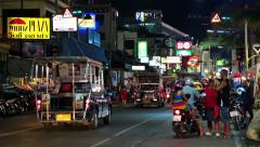 Road traffic in Pattaya, Thailand Stock Footage