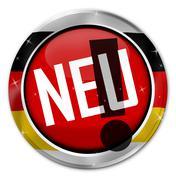 New german language Stock Illustration