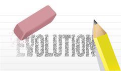 Pyyhkiä evolution käsite kuvaa suunnittelu Piirros