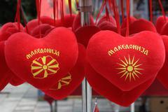 souvenirs from ohrid,macedonia - stock photo