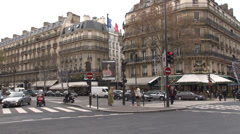 Paris - France - Streets - Saint-Germain-des-Prés - HD Stock Footage