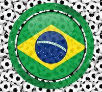 Brazil soccer design Stock Illustration