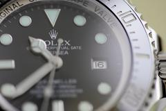 Macro of a Rolex Sea Dweller - stock photo
