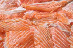 Stock Photo of Raw Salmon Background