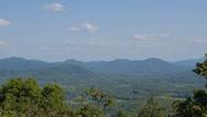 Stock Video Footage of Blueridge Mountains - Pan