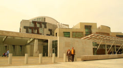 Scottish Parliament building Stock Footage