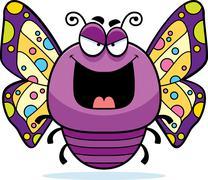 Evil little butterfly Stock Illustration