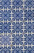 Portuguese glazed tiles Stock Photos