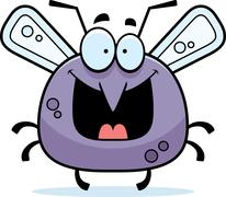 happy little mosquito - stock illustration