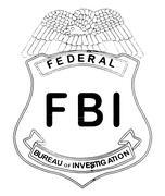 Basic Feds Badge Stock Illustration