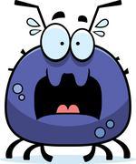 scared little tick - stock illustration