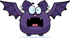 Terrified little bat Stock Illustration