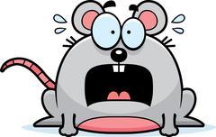 Terrified little mouse Stock Illustration