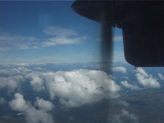 Propeller over clouds, UP11547 Stock Footage