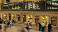 4K Grand Central Terminal Ticket Lines Timelapse 1 Stock Footage