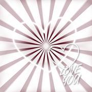Stock Illustration of heart background lovely creative design