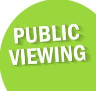 Public viewing falt design background Stock Illustration