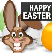 Easter bunny happy smile design Piirros
