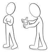 Two people are of different opinion Stock Illustration