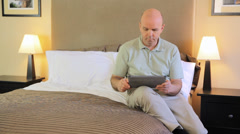 Casual Mature Caucasian Man Using Technology Stock Footage