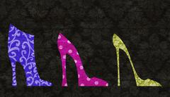chic shoes - stock illustration