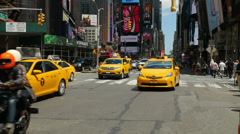 4K Times Square Traffic 3 Stock Footage
