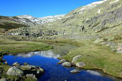 Mountain of gredos at avila in castilla spain Stock Photos