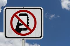 No texting and driving sign Piirros