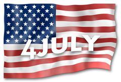 united states flag - stock illustration
