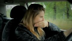 sad despaired woman crying - stock footage