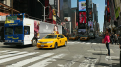 Times Square Traffic 2 Stock Footage