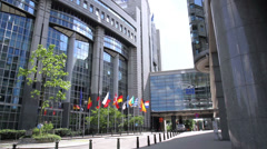 European parliament. Stock Footage