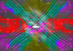 Abstract  lines of light with colorful Stock Illustration