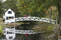 Arched bridge, somesville,maine Stock Photos