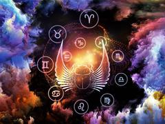 Astrology Backdrop - stock illustration