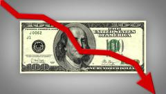 Decline of American Money Currency Value 4344 Stock Footage