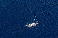 Sailing on the Adriatic sea Stock Photos